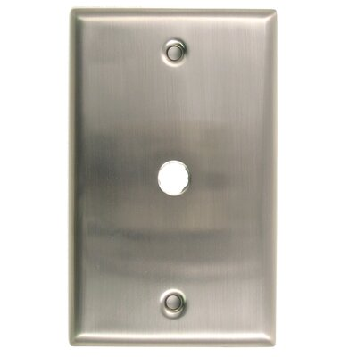 Single Cable Switch Plate Finish: Satin Nickel
