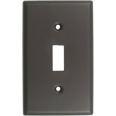 Single Switch Plate (Set of 5) Finish: Oil Rubbed Bronze