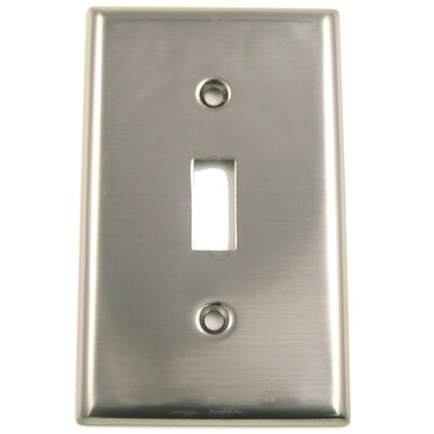 Single Switch Plate (Set of 5) Finish: Satin Nickel