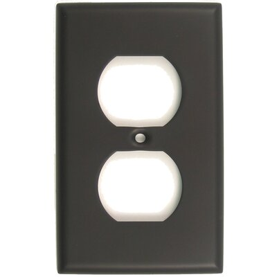 Single Recep Switch Plate Finish: Oil Rubbed Bronze