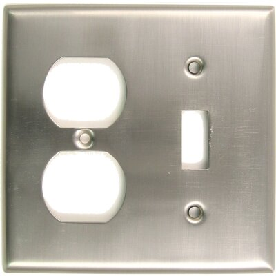 Double and Recep Switch Plate (Set of 5) Finish: Satin Nickel