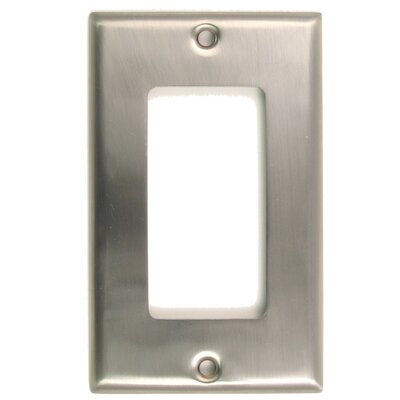 Single Rocker Switch Plate Finish: Satin Nickel