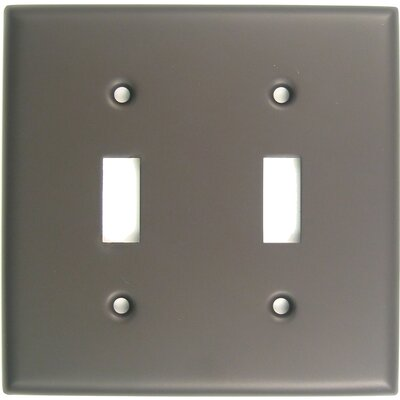 Double Switch Plate Finish: Oil Rubbed Bronze