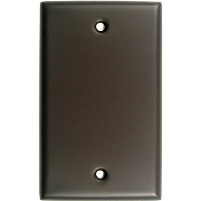 Single Blank Switch Plate Finish: Oil Rubbed Bronze