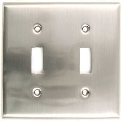 Double Switch Plate (Set of 5) Finish: Satin Nickel