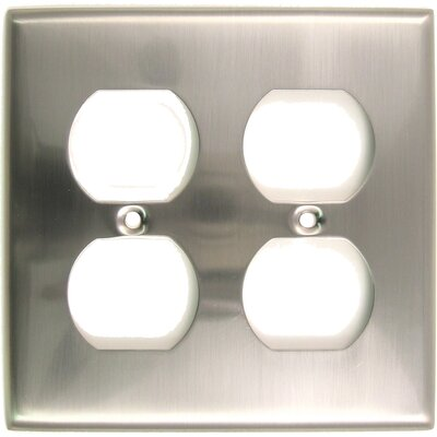 Double Recep Switch Plate Finish: Satin Nickel
