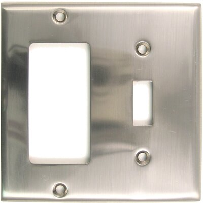 Double Rocker Switch Plate Finish: Satin Nickel
