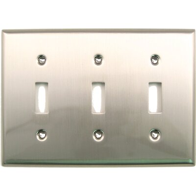 Triple Switch Plate (Set of 5) Finish: Satin Nickel
