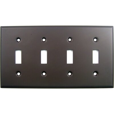 Quad Switch Plate Finish: Oil Rubbed Bronze