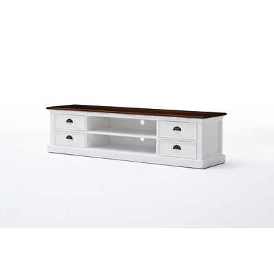 Walraven 71 TV Stand with 4 Drawer and 2 Open Shelves
