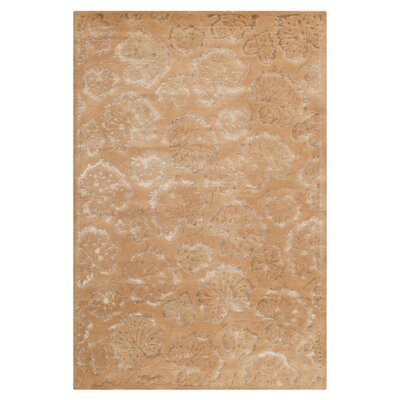 Geranium Leaf Toffee Area Rug Rug Size: Rectangle 56 x 86