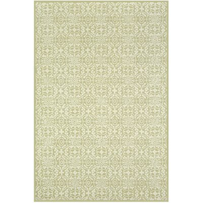 Bloomery Hand Hooked Cotton Beige Area Rug Rug Size: Rectangle 3'9