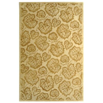 Geranium Leaf Hazelnut/Gold Area Rug Rug Size: Rectangle 56 x 86
