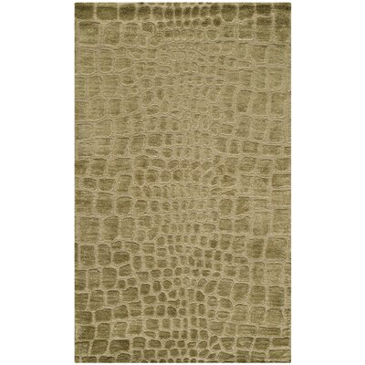 Hand-Knotted River/Bank Area Rug Rug Size: 86 x 116