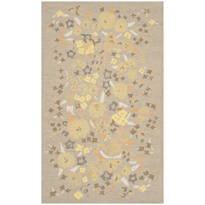 Hand-Tufted Nutshell Area Rug Rug Size: 39 x 59