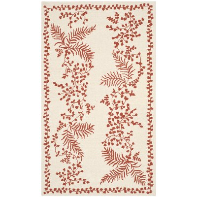 Hand-Tufted Red/Dahlia Area Rug Rug Size: 56 x 86