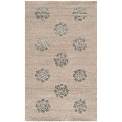 Hand Tufted Wool/Silk Zinc Area Rug