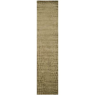 Hand-Knotted River/Bank Area Rug Rug Size: Runner 23 x 10