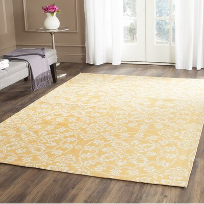 Hand-Loomed Gold/Natural Area Rug