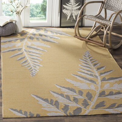 Hand-Hooked Ducks Egg Area Rug Rug Size: Rectangle 5 x 8