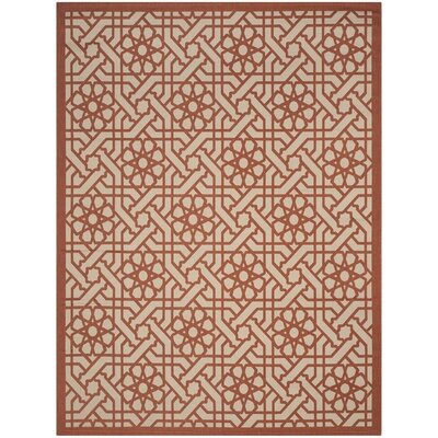 Triumph Cayenne Red/Gray Outdoor Area Rug Rug Size: Runner 27 x 82