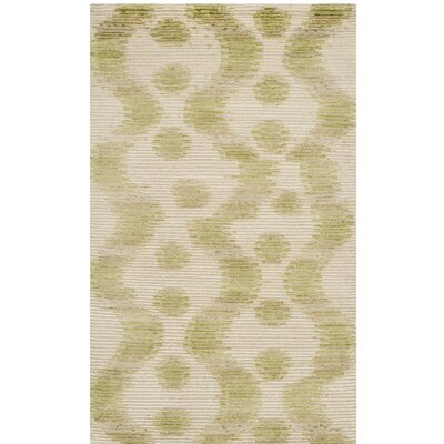 Hand-Tufted Ginkgo/Beige Area Rug
