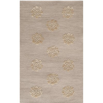 Brosley Medallions Hand Knotted Silk/Wool Quartz Area Rug Rug Size: Rectangle 56 x 86