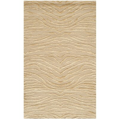 Hand-Tufted Sand Area Rug Rug Size: Rectangle 26 x 43