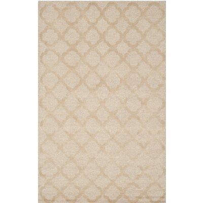 Hand-Tufted Salmon Area Rug Rug Size: Rectangle 26 x 43