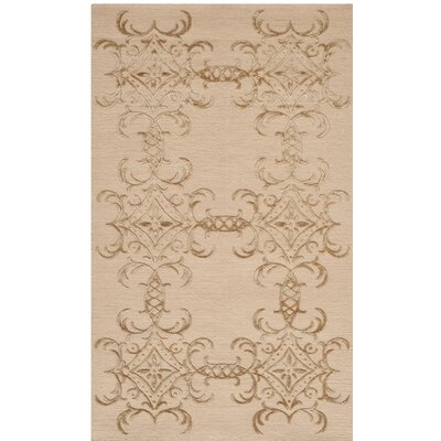 Danbury Tracery Hand-Knotted Pecan Area Rug Rug Size: Rectangle 56 x 86