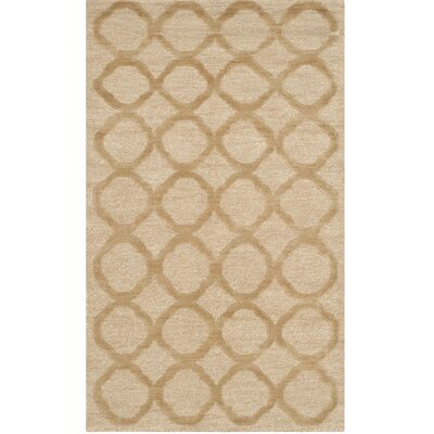Hand-Tufted Beige Area Rug Rug Size: Rectangle 56 x 86