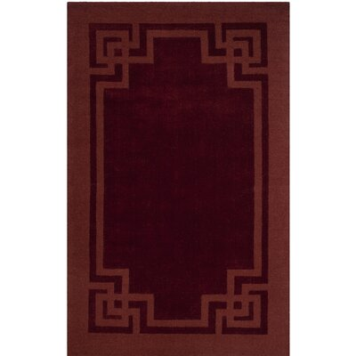Hand-Tufted Vermilion Area Rug