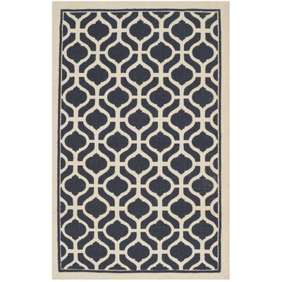 Hand-Loomed Navy/Natural Area Rug