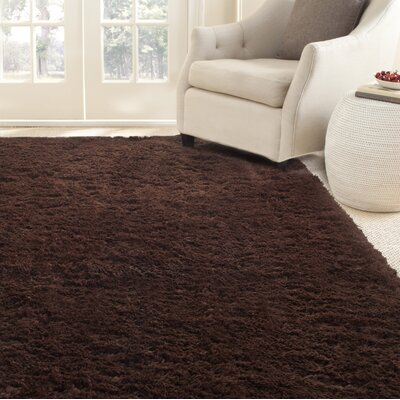 Hand-Tufted Chocolate Area Rug Rug Size: Rectangle 8 x 10