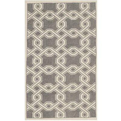 Hand-Loomed Gray/Natural Area Rug