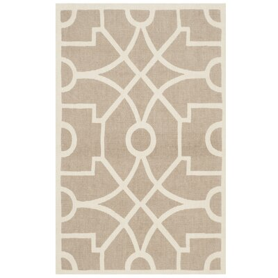 Hand-Loomed Taupe/Natural Area Rug