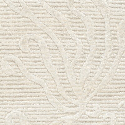 Martha Stewart Seaflora Hand-Woven Silk Pearl Area Rug Rug Size: Rectangle 39 x 59