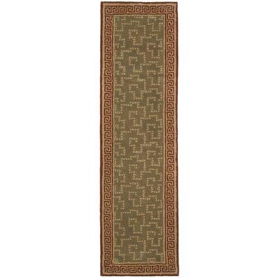 Byzantium Hand-Loomed Sealing Wax Area Rug Rug Size: Runner 23 x 8
