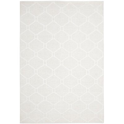 Martha Stewart Piazza Gls Of Milk White Area Rug Rug Size: Rectangle 6 x 9