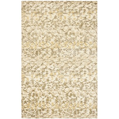 Martha Stewart Abstract Trellis Wheat F Beige Area Rug Rug Size: Rectangle 6 x 9