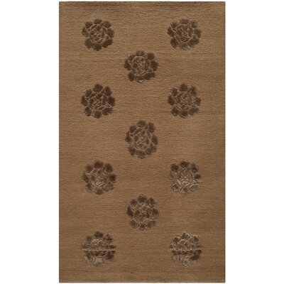 Brosley Medallions Hand Knotted Silk/Wool Cocoa Area Rug Rug Size: Rectangle 56 x 86