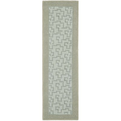 Martha Stewart Byzantium Rainwater Greek Key Indoor/Outdoor Area Rug Rug Size: Runner 23 x 8