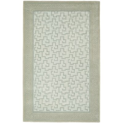 Martha Stewart Byzantium Rainwater Greek Key Indoor/Outdoor Area Rug Rug Size: 9 x 12