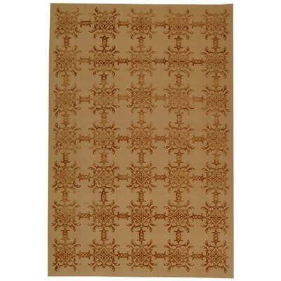 Martha Stewart Tracery Rose/Wood Area Rug Rug Size: 79 x 99