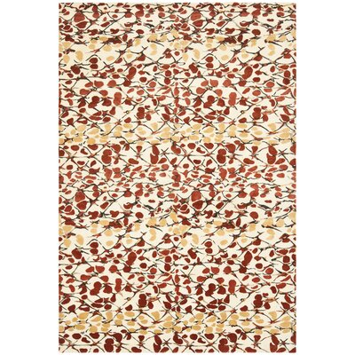 Martha Stewart Abstract Trellis Bard Red Area Rug Rug Size: 6 x 9