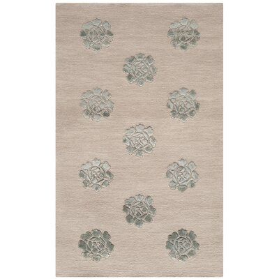 Martha Stewart Medallions Aqua/Marine Area Rug Rug Size: Rectangle 56 x 86