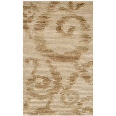 Martha Stewart Damask Vine Raw Umber Area Rug Rug Size: Rectangle 56 x 86
