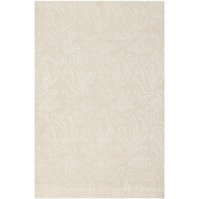 Martha Stewart Seaflora Hand-Woven Silk Pearl Area Rug Rug Size: Rectangle 56 x 86