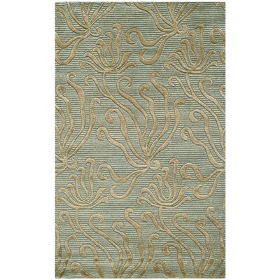 Martha Stewart Seaflora Glass Sea Area Rug Rug Size: 56 x 86