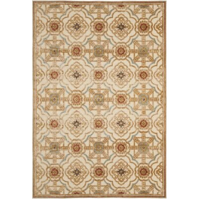 Martha Stewart Imperial Palace Taupe/Cream Area Rug Rug Size: Rectangle 8 x 112